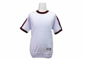 半袖シャツ2本ライン(エンジ) 体操服